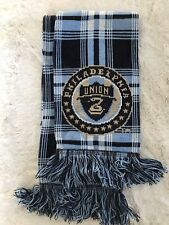 NWOT Philadelphia Union Blue Plaid MLS Scarf By Ruffneck Scarves