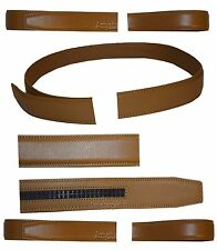 Women/Men's Leather belt strap only Replacement strap for Auto-lock buckle 1.10""