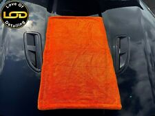 50 X 80cm 1400GSM Dual Twisted Microfibre Double Sided Car Drying Towel - Orange
