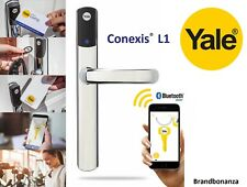 Yale Conexis L1 Smart Door Lock Chrome Security Handle Bluetooth Keyless Tag