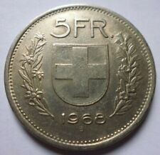 5 SWISS Francs 1968 B Confoederatio HELVETICA Rare Collectable Circulated Coin