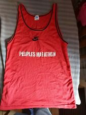 More details for nike vintage runners vest peoples marathon 1983 size small