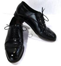 Florsheim Mens Black Leather Oxford's Size 8 Toe Cap, Lace Up, #549121 243 04