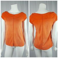 Vanessa Virginia Anthropologie Knit Top Womens Size XS Short Sleeve Ombre Orange
