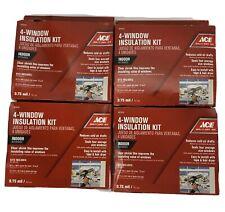ACE 5273115 4-Window Indoor Insulation Kits Reduce Drafts Seals 4 Windows Each