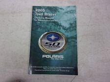 New listing Polaris Atv Owners Manual 9919472 2005 Trail Blazer