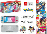 Nintendo Switch Lite Zacian And Zamazenta Ltd Ed Console + Pokemon Sword Shield
