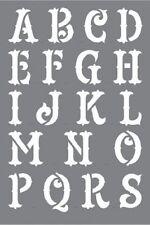 "Deco art en plastique urban ink alphabet a-z, lettrage pochoir 6"" x 9"" outlaw-neuf"