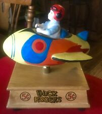 Vintage Aldon Buck Rogers Rocket Ship Music Box Fly Me To The Moon