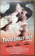 THOU SHALT NOT Broadway Theater Window Card Poster; Harry Connick, Jr.