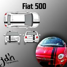 Fiat 500 Single Offset Rally Racing Stripes Vinyl Decal Sticker Graphics Kit Car