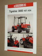 Prospectus Tracteur CARRARO TIGRETRAC 3000 HST trattore tractor traktor prospekt