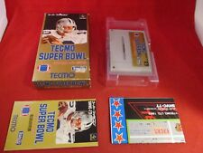 Tecmo Super Bowl Super Famicom Japanese Game COMPLETE w/ Box manual US SELLER!