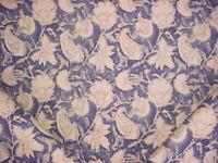 1-5/8 Ralph Lauren LCF65282F Belgrade Batik Floral Indigo Upholstery Fabric
