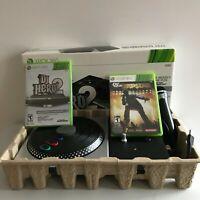 DJ Hero 2 Microsoft Xbox 360 Turntable & Game with Mic and Def Jam Rapstar Game