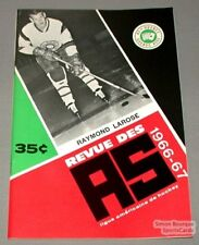 1966-67 AHL Quebec Aces Program Raymond Larose Cover
