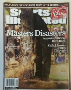 Sports Illustrated Magazine Masters Disasters Chris Drury April 2007 Issue
