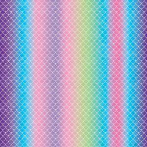 "Cricut Infusible Ink Transfer Sheet 12""X12"" 4/Pkg-Mermaid Rainbow -2006768"