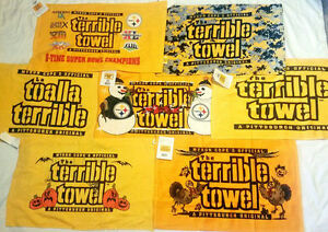 PITTSBURGH STEELERS TERRIBLE TOWEL ( 27 CHOICES )