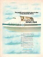 1975 Original Advertising' Vintage Pan-Am American Airways boeing747 First Class