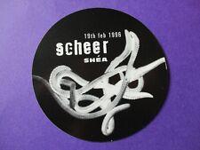 4AD Scheer Shea PROMO STICKER 1996 ORIGINAL northern irish indie