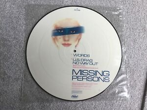 """MISSING PERSONS : WORDS 12"""" PIC DISC VINYL"""