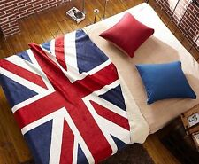 Union Jack British Flag Fleece Throw Blanket Cover - Bed Couch - New