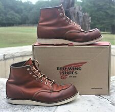 Red Wing Moc-Toe Classic ORO-LEGACY Trac Tred Wedge Size 11 D Made in USA