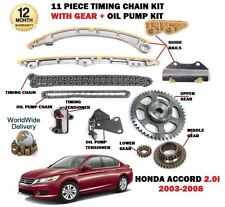 Per HONDA ACCORD 2.0 k20a6 2003-2008 TIMING CATENA + INGRANAGGI + pompa olio catena KIT