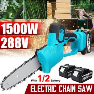 288V 1500W Elettrosega Elettrico Motoseghe a batteria Con 1/2x 22980mAh Batteria