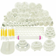 68pcs Sugarcraft Cake Decorating Fondant Plunger Cutters Mold Baking Cookies USA