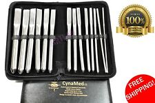 GERMAN SINGLE ENDED HEGAR DILATOR SOUNDS 14pcs PREMIUM GYNECOLOGY MEDICAL