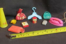 Vintage Doll house small items lot of 10,phone,razor,cigarettes,purse,hanger