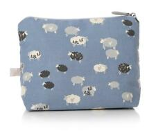 Country Farm Sheep Hearts Blue White Toiletries Make Up Cosmetics Wash Bag Case