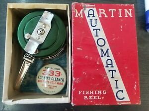 Vintage Martin No 39 Automatic Fly Fishing Reel with box