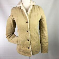 Abercrombie & Fitch XS Women's Corduroy Faux Fur Lined Jacket Tan