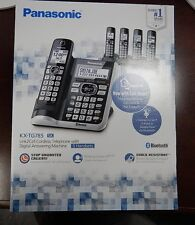 2017 NEW PANASONIC 5 HANDSET CORDLESS PHONE SET DECT 6.0 LINK2CELL KX-TG785SK