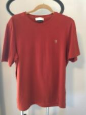 VERSACE Collection Brick Red Short Sleeve Cotton Blend T-shirt SZ L