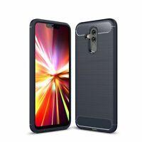 Huawei Mate 20 Lite TPU Custodia per Cellulare Fibra Carbonio Ottica Spazzolato