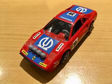 BURAGO FERRARI-308 GTB 1/43 VINTAGE  JOUET  VOITURE RALLYE COURSE AUTO