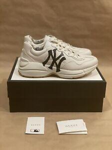 Gucci Rhyton New York NY Yankees Off White Navy Size 10 43 Brand New
