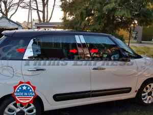 2014-2020 Fiat 500L 4Dr 6Pc Chrome Pillar Post Stainless Steel Trim Door Cover