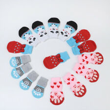 Cute Dog Socks Winter Pet Anti-Slip Knit Socks Small Dogs Thick Warm Christmas