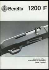 1995 Beretta 1200 F Semi-Auto Shotgun Vintage Original Owner's Manual