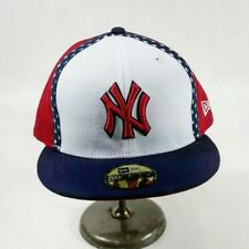 New era mens 100%authentic fitted hat 59fifty 7-1/2  New York Yankees multicolor