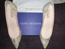Russell bromley Stuart Weitzman Piel De Serpiente Zapatos UK8 41