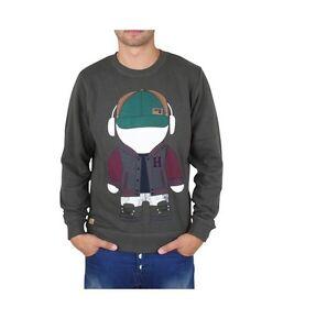 """Mens HUMOR Sweater Jumper """"Rex"""" Sweatshirt Cotton Crew Neck Top Graphic- Rosin"""