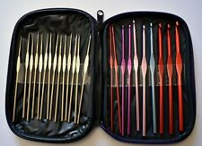 Set of 24 Aluminium Crochet Hooks for Knitting Crafts with Case