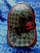 Umbro Black / Gray/ Red Geometric Design Baseball / Trucker Hat / Cap, New !