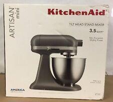 KitchenAid Artisan Mini 3.5QT Tilt-Head Stand Mixer - Matte Gray | FREE SHIPPING